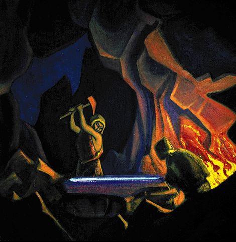 Forging the sword (source)