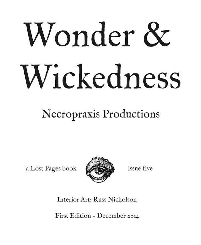 wonder wickedness title